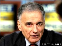 Ralph Nader during the NBC interview