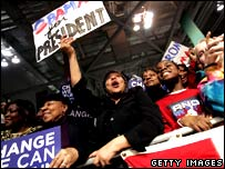 Barack Obama supporters in Ohio