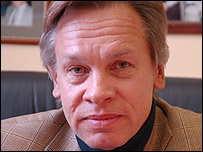 Russian professor and TV journalist Alexi Pushkov