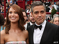George Clooney and Sarah Larson