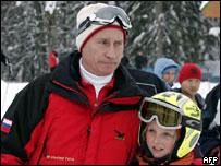 Владимир Путин на лыжном курорте в Сочи