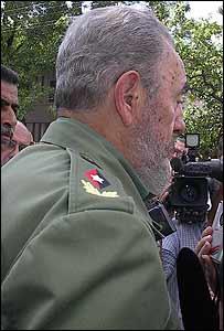 Fidel Castro en uniforme con su rombo con la estrella de cinco puntas (Foto: Raquel Pérez)