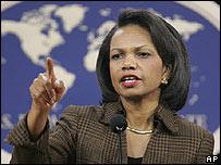 Condoleezza Rice el 22 de febrero