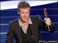 Glen Hansard gives his speech