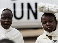 Children in Darfur camp