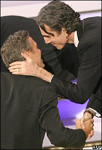 Daniel Day-Lewis and George Clooney