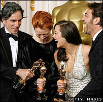 Daniel Day-Lewis, Tilda Swinton, Marion Cotillard and Javier Bardem