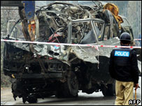 A suicide attack in Rawalpindi on 4 February