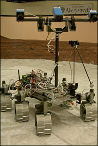 The rover vehicle being tested at Aberystwyth University (picture: Aberystwyth University)