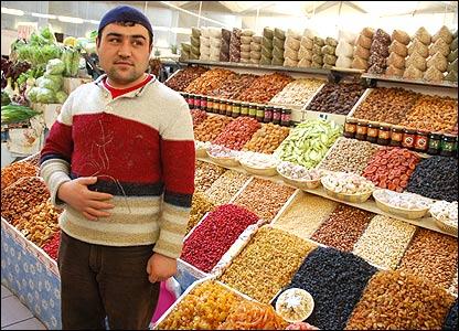Market stall owner, Haji