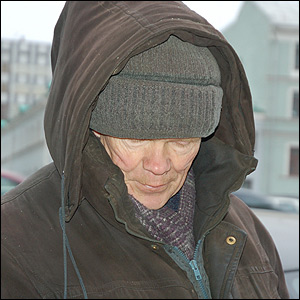 Man on street.