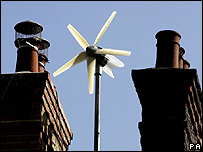 Roof-top wind turbine (Image: PA)
