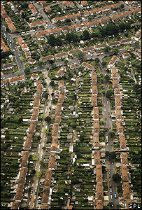 Aerial view of houses (Image: Science Photo Library)