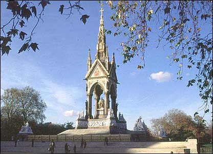 The Albert Memorial, London, built by Sir George Gilbert Scott in 1865