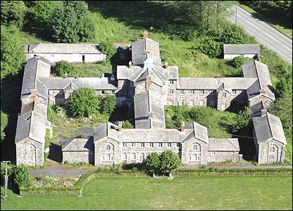 Llanfyllin Workhouse in Oswestry, Wales, built in 1838 by Thomas Penson
