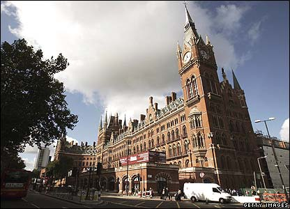 St Pancras hotel and station, built by Sir George Gilbert Scott in 1868-72