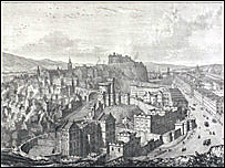 Rory Bremner's choice of a view of Edinburgh from Calton Hill.