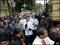 Catholics hold a rally in Hanoi, Vietnam (25/01/2008)
