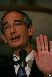 Guatemala's President, Alvaro Colom, 5 November 2007