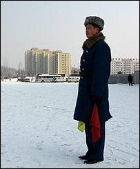 Traffic policeman in Pyongyang