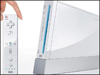 Wii remote and console