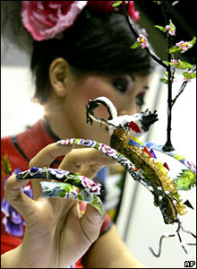 3d nail art los angeles fingernails at a 3d nail art competition prinsesfo Images