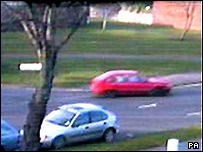 Red Daewoo Nexia car seen on CCTV image