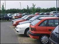 Hospital car park (library photo)