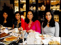 The women of the Akhtar family, Pakistanis from New Jersey. From right, Mona, Mino (mother), Sonia, Sheema.