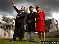 Alex Salmond, SNP MSP Bashir Ahmad and Nicola Sturgeon
