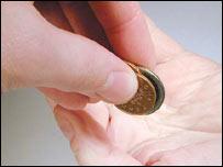 Coins handover
