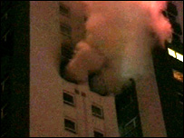 Tower block where the fire broke out/Pic: Strathclyde Fire and Rescue