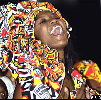 Naomi Campbell at a carnival in Brazil in February 2008