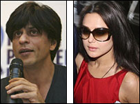 Shah Rukh Khan and Preity Zinta