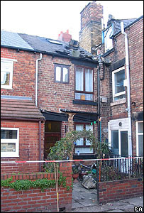 The damaged house in Barnsley Road, Wombwell