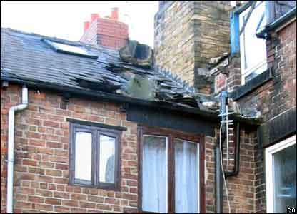 Roof damage in Wombwell, Barnsley