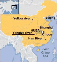 BBC NEWS AsiaPacific Pollution Turns Chinese River Red - 3 major rivers