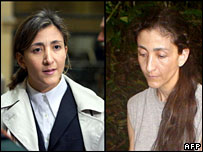Ingrid Betancourt in March 2001 in Paris and on a picture released in November 2007