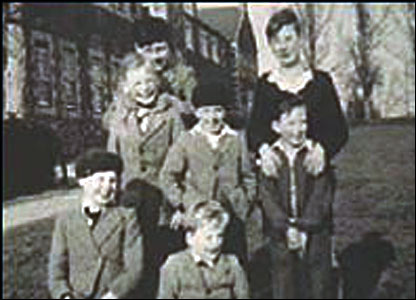 Residents at the Haut de la Garenne children's home in the 1940s