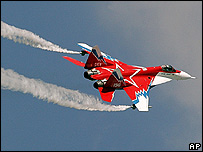 Russian MiG 29 fighter