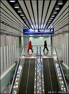 Interior shot of the new third terminal at Beijing airport