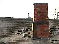 Damaged roof in Derby