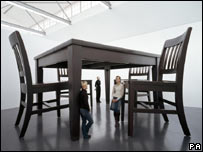No Title (Table and Four Chairs) 2003 by Robert Therrien