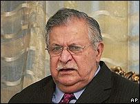 Iraqi President Jalal Talabani (file pic)