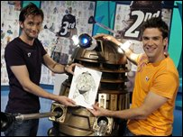 Doctor Who actor David Tennant with Gethin Jones