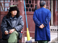 Two men in Shuangxi village