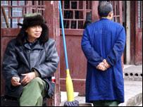 Two men in Shuangxi village