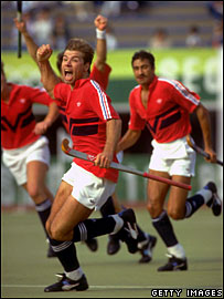 GB players celebrate in Seoul in 1988