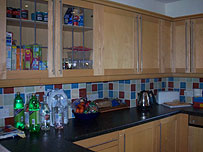 The kitchen in the Sporting Chance Clinic in Hampshire