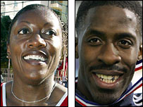 Chryste Gaines and Dwain Chambers